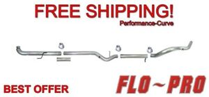 4 Exhaust System Flo Pro Ss801nm Stainless No Muffler Fits 01 07 Duramax 6 6l