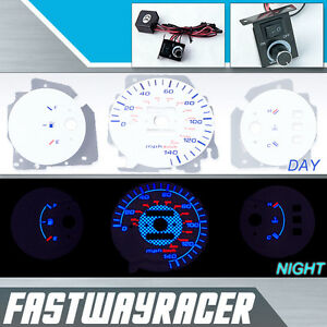 92 95 Civic Eg D15 D15a Manual White And Blue Reverse Glow Gauge Mt Blue Golw 94