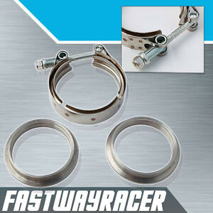 Universal 3 0 Stainless Steel V Band Clamp Turbo Charger Exhaust Kit