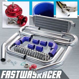 2 5 Aluminum Fmic Intercooler Piping Kit red Type rs Turbo Blow Off Valve Bov