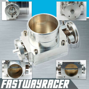 Universal Upgrade Aluminum Silver 70mm Throttle Body Intake Manifold 1g 2g 3g