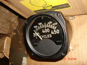 Vintage Aircraft 350 To 450 Cycles Meter 120 Voltmodel 847