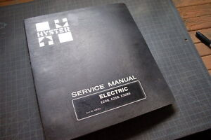 Hyster E20b E25b E30bs Electric Forklift Service Manual Repair Shop Overhaul Oem