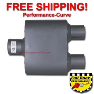 Single Chamber Performance Exhaust Race Muffler Full Boar 2 5 2 25 Fb425