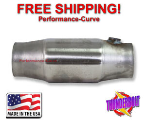 3 Thunderbolt Catalytic Converter High Flow T409 Stainless Steel Rear O2 Nut