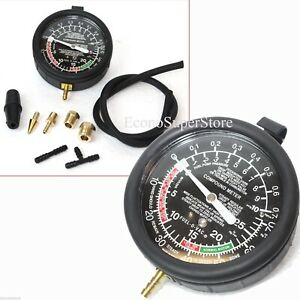 Fuel Pump Vacuum Gauge Pressure Tester Test Both Mechanical Electrical Fuel
