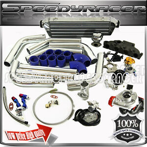 T3 Turbo Kits Intercooler Wastegate Cast Iron Manifold 97 06 Audi A4 Passat