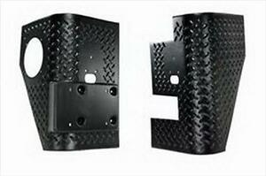 Rugged Ridge Rear Corner Guard Body Armor For 97 06 Jeep Wrangler 11650 02 Black