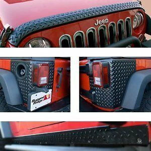 Rugged Ridge Body Armor 5 Piece Kit 07 17 Jeep Wrangler 2 Door 11651 51 Black
