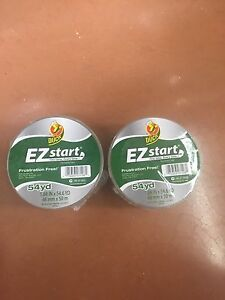 2 Rolls Clear Duck Ez Start Packing Carton Shipping Duct Tape 1 88 X 54 6 Yards