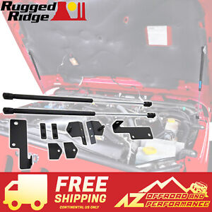 Rugged Ridge Hood Lift Kit For 2007 2017 Jeep Wrangler Jk 11252 51 Black