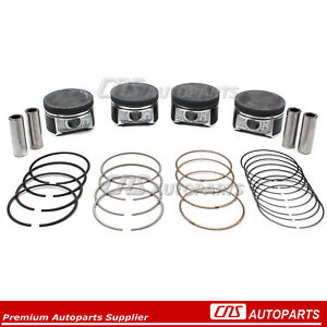 Fits 01 05 Honda Civic Dx Lx 1 7l Dohc D17a1 Pistons W Rings Std
