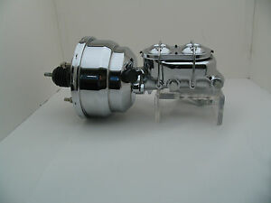 1955 70 Gm Fullsize Chevy Chrome 7 Dual Power Brake Booster Conversion Kit