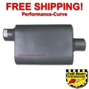 2 Chamber Performance Muffler Full Boar 2 5 Offset 2 5 Center Fb2541