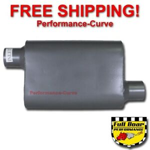 2 Chamber Performance Muffler Full Boar 2 5 Offset 2 5 Offset Fb2543
