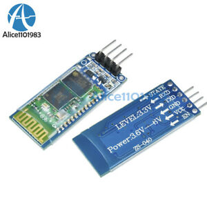 Wireless Serial 4 Pin Bluetooth Rf Transceiver Module Hc 06 Rs232 With Backplane