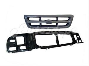 For 1998 2000 Ford Ranger Header Mounting Panel Grille Grey 2pcs New