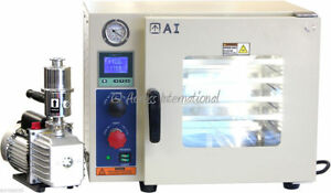 5 side 0 9 Cf Vacuum Oven W St St Tubing 7 Cfm Pump And 2 yr Warranty