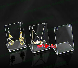 Earrings Necklace Pendant Display Stand Rack Accessories Jewelry Holder Clear