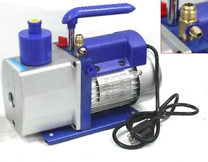 R410a 1 stage 4 8 Cfm Rotary Vane Vacuum Pump Hvac Air Condition Refrigerant