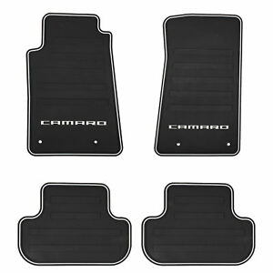 Oem New Front Rear All Weather Rubber Floor Mats W logo 12 15 Camaro 22766717