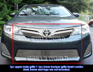 Fits 2012 2014 Toyota Camry Billet Grille Insert Combo