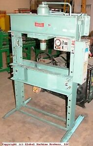 Dake H frame Press 75 Ton Model 8 080 1
