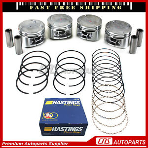 New 92 96 Honda Prelude Si Dohc 16 valve H23a1 Engine P14 Pistons Npr Ring Set