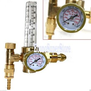 Lot Two Argon Co2 Gas Mig Tig Flow Meter Welding Weld Regulator Gauge Cga580