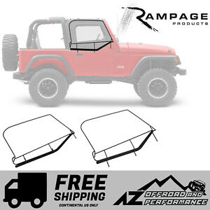 Rampage Window Frames Black Fits 1997 2006 Jeep Wrangler Tj Lj Unlimited