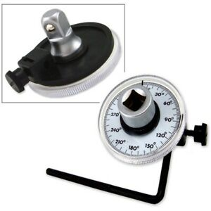 Lot Two 1 2 Dr Torque Angle Gauge Calibrated 360 Degree Rotation Scale Gauge