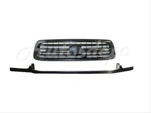 For Toyota 2000 2002 Tundra Front Bumper Steel Type Filler Grille Black 2pcs