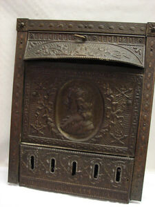 Antique Tin Man Portrait Gas Fireplace Surround Cover Tin Summer Cover