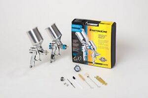 Startingline Hvlp Complete Auto Painting And Priming Gun Kit Dev 802343 New