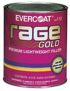 Rage Gold Premium Lightweight Body Filler Gallon Fib 112 Brand New