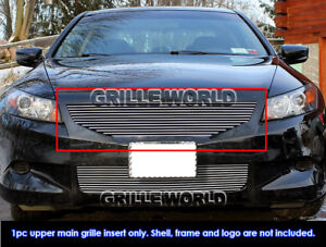 Fits 2008 2010 Honda Accord Coupe 2dr Billet Main Upper Grille Insert