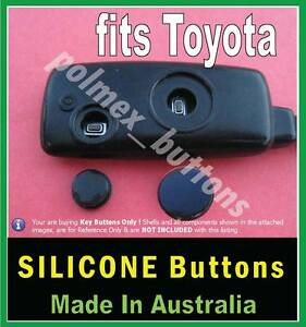 Fits Toyota Corolla Yaris Avensis Remote Key 2 Repair Silicone Buttons 1set