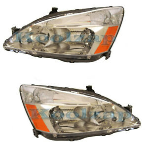 03 07 Accord Headlight Headlamp Front Head Light Lamp Left Right Side Set Pair