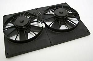 Dual 11 Electric Cooling Fans With Flow Thru Radiator Shroud 2800 Cfm 23w X 16h