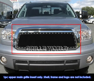 Fits 2010 2013 Toyota Tundra Stainless Black Mesh Grille Insert