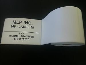 500 Rolls 4 X 6 Zebra Direct Thermal Shipping Printer Labels 250 125000