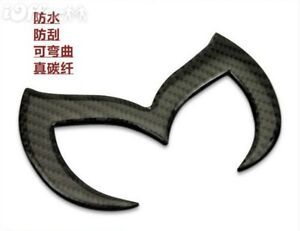 Car Emblem Badge Batman For Mazda Mazdaspeed 2 3 5 6 Cx 100 Carbon Fiber Black