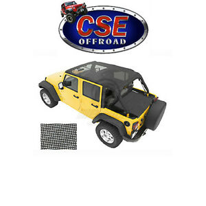 52581 11 Bestop Mesh Safari Bikini Top For Jeep Wrangler Jk 2007 2009 4 Door