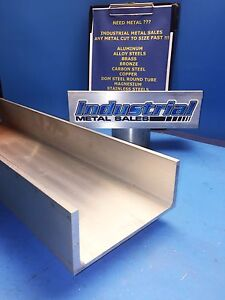 6061 T6 Aluminum Association Channel 6 X 210 X 3 1 4 X 48 long