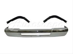 For 93 97 Ford Ranger Front Bumper Face Bar Chrome Filler Panel W O Pad Hole 3p
