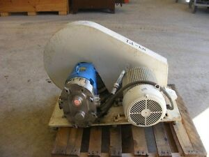 Waukesha Size 130 3 Rotary Lobe Pump On Base With 10 Hp In Nj