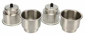 4pcs Stainless Steel Cup Holder Drink Holders With Sticker For Boat Rv Camper Us