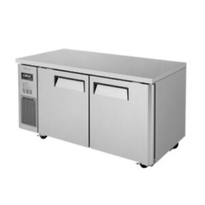 Turbo Air Jur 60 n6 2 section Undercounter Refrigerator Stainless Steel Interior
