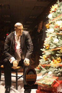 Sitting Mannequin manikin Christmas Display Male Sitting Manequin joe 1pedestal