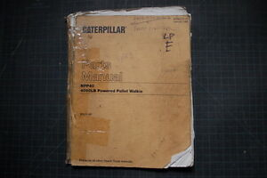 Caterpillar Npp40 Pallet Walkie Forklift Parts Manual Book Catalog Cat Spare Oem